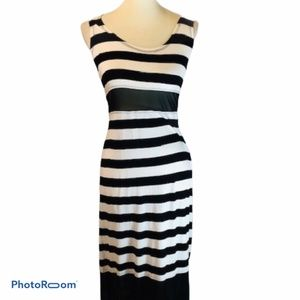 NWT Seven7 Striped Maxi Dress